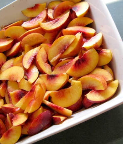 nectarines sliced